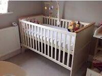 Cot bed and wardrobe - John Lewis nouveau range