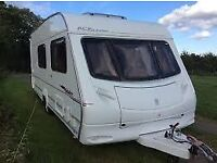 Abi Ace jubilee 6 berth 2006 model comes with free awning and motor mover