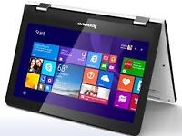 SWAP (Touchscreen 360 Degree Rotating) Lenovo Yoga 300 White Tab/Laptop Windows Ten