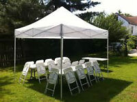 Canopies and EZ Pop up Party Tents/Folding chairs Rental....