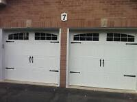 8X7 INSULATED CARRIAGE GARAGE DOORS....... $699 INSTALLED