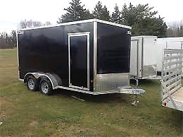 2017 7x14 Enclosed with ramp rear doors