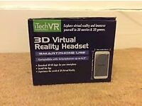 iTech Virtual Reality VR Headset 3D Glasses For iOS Android Phones... boxed