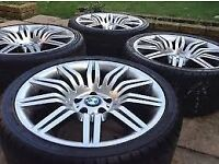 BMW 5 SERIES SPIDER WHEELS WITH TYRES OPEN TO ALL OFFERS