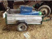 Small aluminium trailer