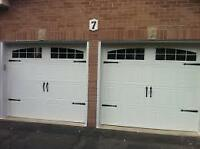 INSULATED CARRIAGE GARAGE DOORS.... $800 INSTALLED