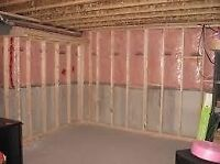 Basement framing and insulating