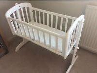 john lewis white swinging crib(new one)