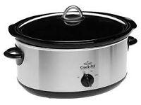 Crock-Pot Slow Cooker in Brushed Chrome