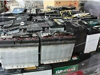wanted you old car or caravan battery's