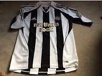 retro newcastle united football shirt