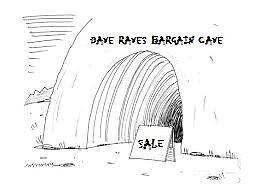 dave raves bargain cave