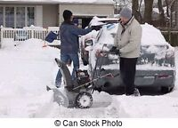 Snowblowing by Dad and his Lad