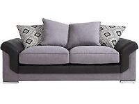 Grey and black sofa bed and cuddle chair