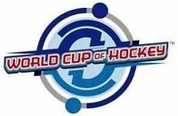 World Cup of Hockey 17 game package! See the entire tournament