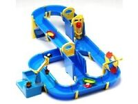 Brio Waterway playset with expansion set, boats, port, lock, water wheel