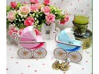 Baby shower pram boxes for favours x10