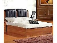 Stylish Brand New MDF Wood storage bed Double and King size Bed Available in Walnut and Beech Colors