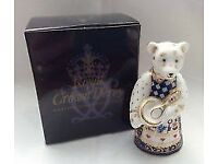 Royal Crown Derby Teddy Paperweight Cook Bear