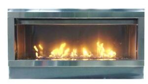 "45"" Linear stainless steel out door Fireplace"