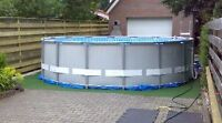 16x48 intex pool with lots of extras