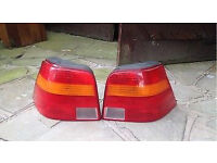 VW Golf Mk4 Rear Tail Lights genuine and in great condition