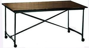 On Sale Industrial Folding Dining Table on Wheels ClearancePrice