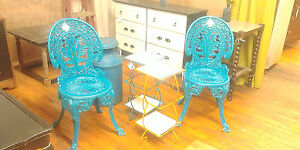 Refinished Wrought Iron Patio Chairs