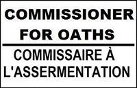 Do you need a Commissioner for Oaths? Only $15 Text 780-399-8378