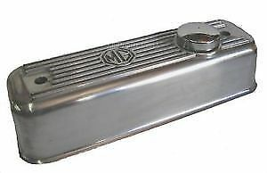 New Polished Finish Alloy Valve Cover  MGA MGB 1955-80 W Chrome Cap + Gasket