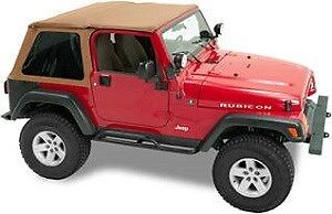 Windows Spice Fabric (Pavement Ends Sprint Top Tinted Windows - Spice Denim for 97-06 Jeep Wrangler)