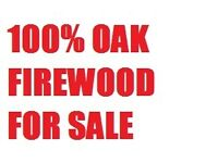 Oak firewood logs cut and split. Ideal hardwood timber for open fires, stoves, pizza ovens etc.