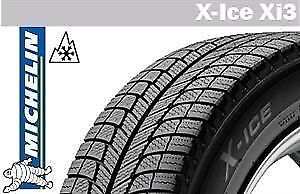x4 Michelin Winter Tires on Steel Black Rims -Great Condition!
