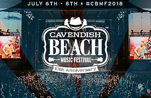 2 Cavendish Beach Music Festival, 3 days week end passes! SAVE