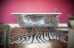 """60"""" Antique Claw foot tub - Fantasy bath tub of epic proportion"""