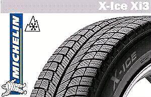 4 pneus d'hiver neufs Michelin X-Ice XI3 sur jantes
