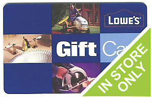 Wanted and looking for Lowes rona gift card store credit