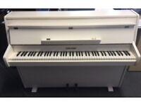 White Zender Upright Piano