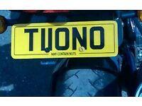 Tuono Private plate cherished plate registration