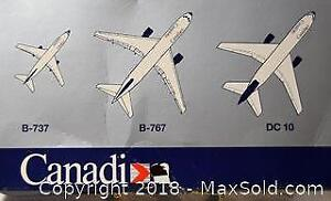 CANADIAN AIR LINES Aircraft Collections - collection of 3 - 1:600 scale die-cast model airplanes