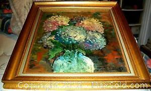 FINE IMPRESSIONIST STILL LIFE PAINTING SIGNED Jean Hubert