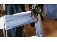 Wedding chair sashes x8 periwinkle blue