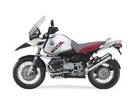 Wanted- BMW R1150GS Adventure motorcycle or R1200GS Adventure for over winter project