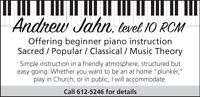 Beginner piano lessons in Almonte