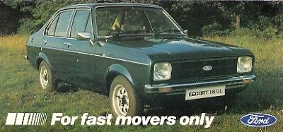 Ford Escort 1.6 L & GL Special Mk2 Limited Edition 1979 UK Market Sales Brochure