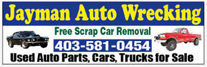 We want your used cars/Scrap metal
