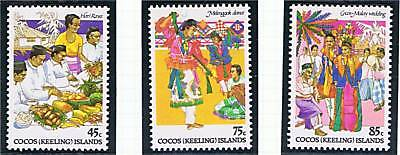 Cocos (Keeling) Is 1984 Cocos-Malay Cult. SG108/10 MNH