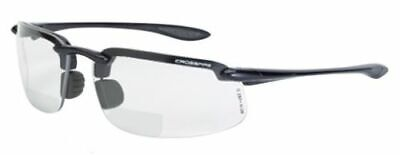 Crossfire Safety Glasses ES4 Bifocal Reading Readers 1.5x, 2.0x, 2.5x Clear (Safety Glasses Bifocal Readers)