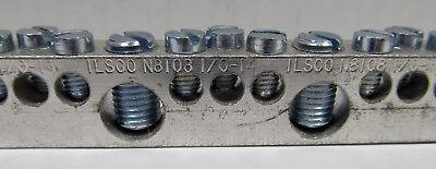 Lot Of 2 Ilsco N8108 Neutral Bar 10-14 Al9cu Length 11-1116