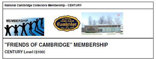 "NCC ""Friends of Cambridge"" Membership - Century Level"